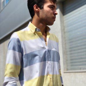 camisa de hombre rayas anchas