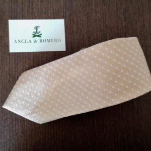 Corbata para hombres de estampado de lunares