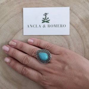 anillo turquesa de mujer ajustable