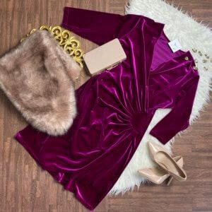 vestido frunce lateral