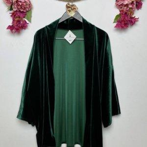 Kimono de terciopelo verde