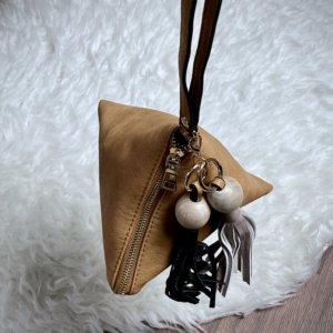 Mini bolso triangular de mano de mujer