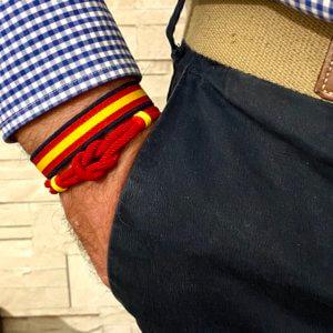 pulsera nudo marinero con bandera de españa