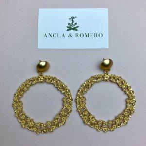 pendientes aro, complementos , flamenca, feria, rocio, tienda de complementos, moda mujer, ideal para regalar