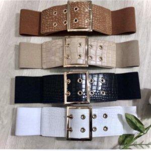 cinturones anchos de piel