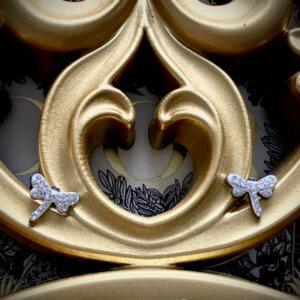pendientes libélula zirconitas