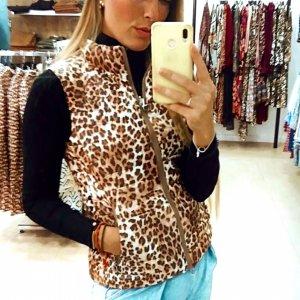 Chaleco leopardo reversible