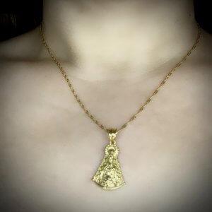 Cadena y medalla virgen del rocio