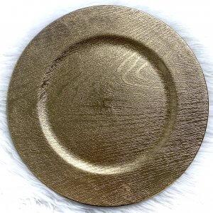 Bajo plato madera
