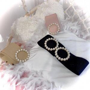 cinturón perlas