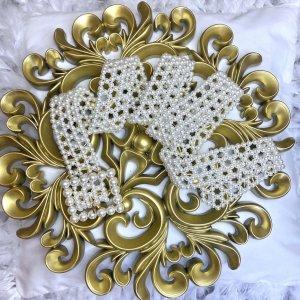 cinturón lady perlas
